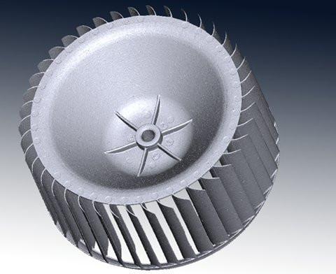 Turbine blade 3D scan
