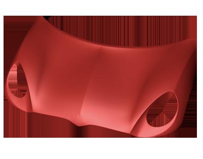 Sportcar bonnet