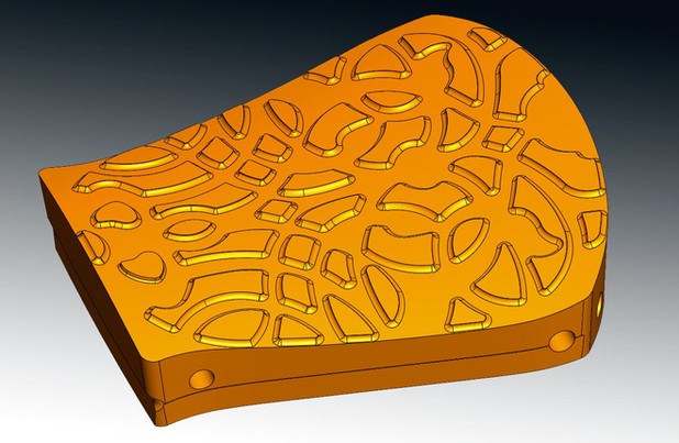 Mould 3D CAD redesign from scanned data