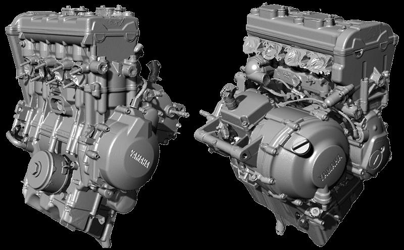 Yamaha R6 engine