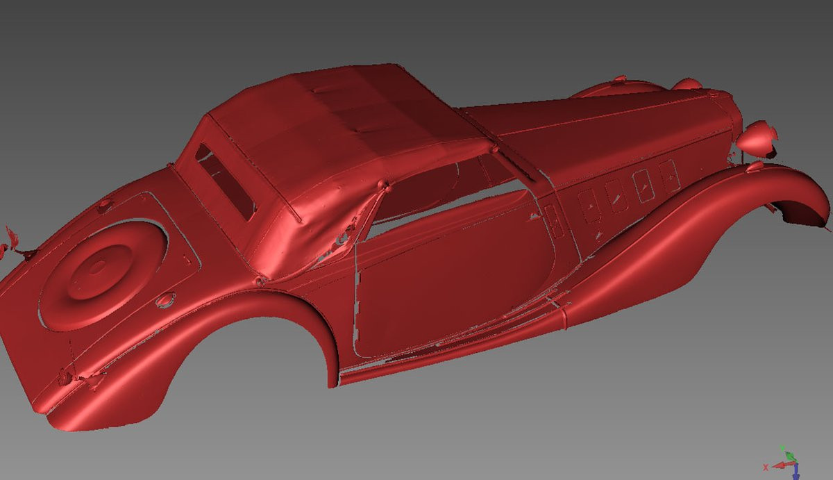 MG vintage car 3D scan