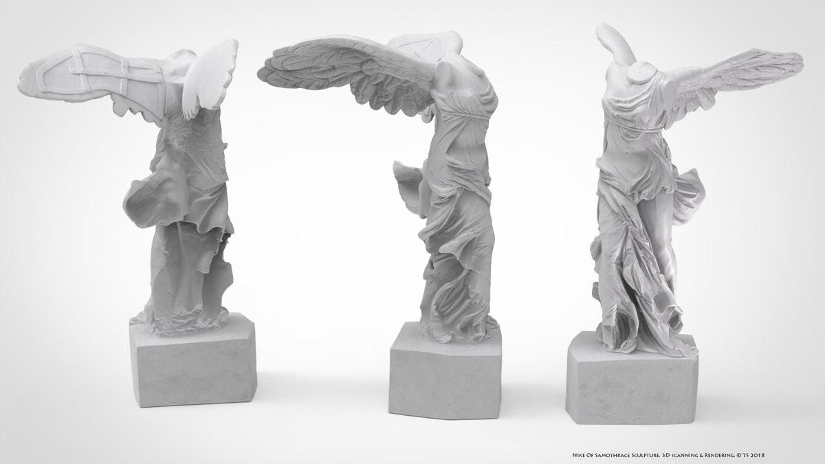 nike sculpture rendering