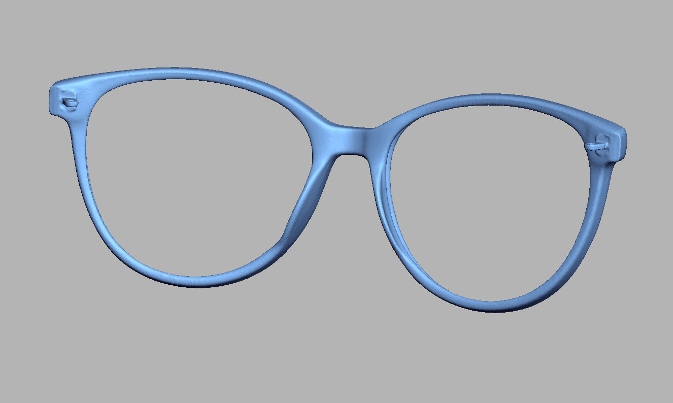 Spectacles frame 3D scanning