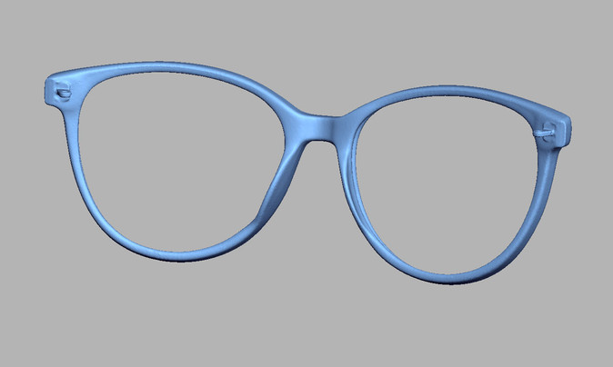 Spectacles frame 3D scanning