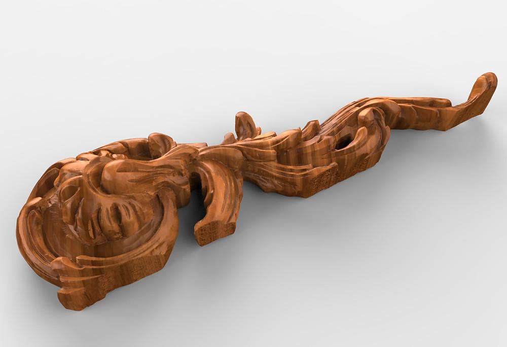 Wooden carved STL model