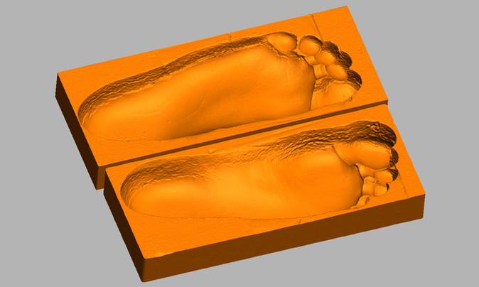 Feet impression 3d scan