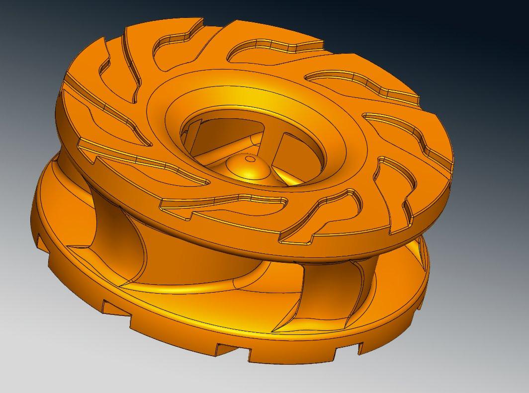 Slurry pump CAD reverse