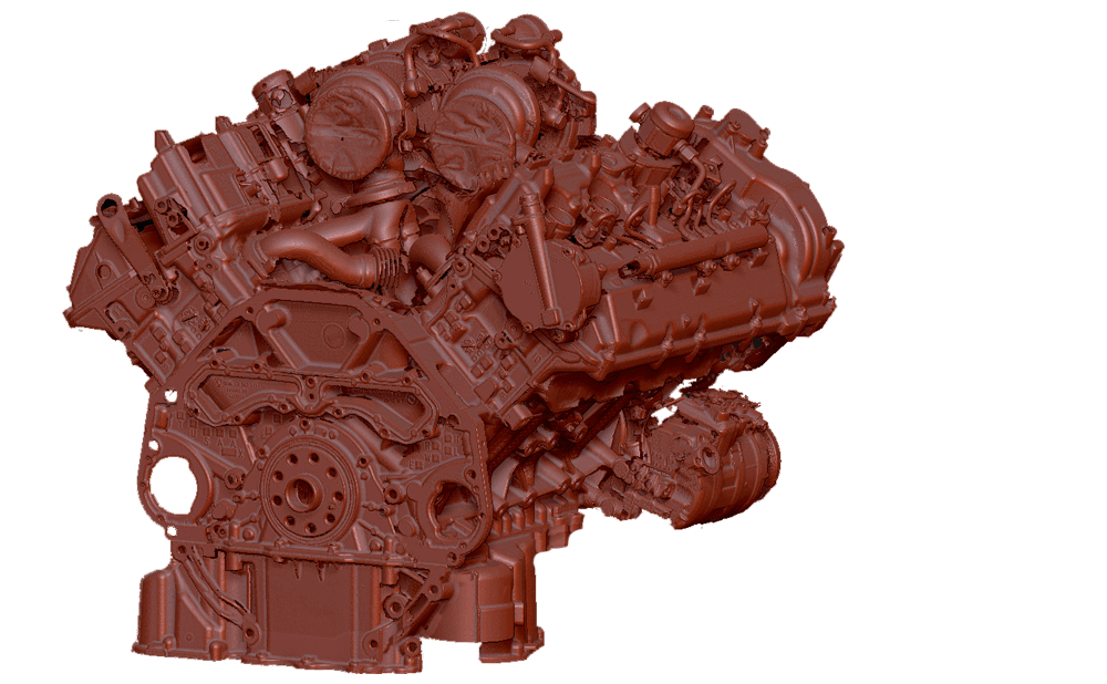 bmw V8 engine 3D scanning