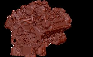 bmw V8 engine 3D scanning