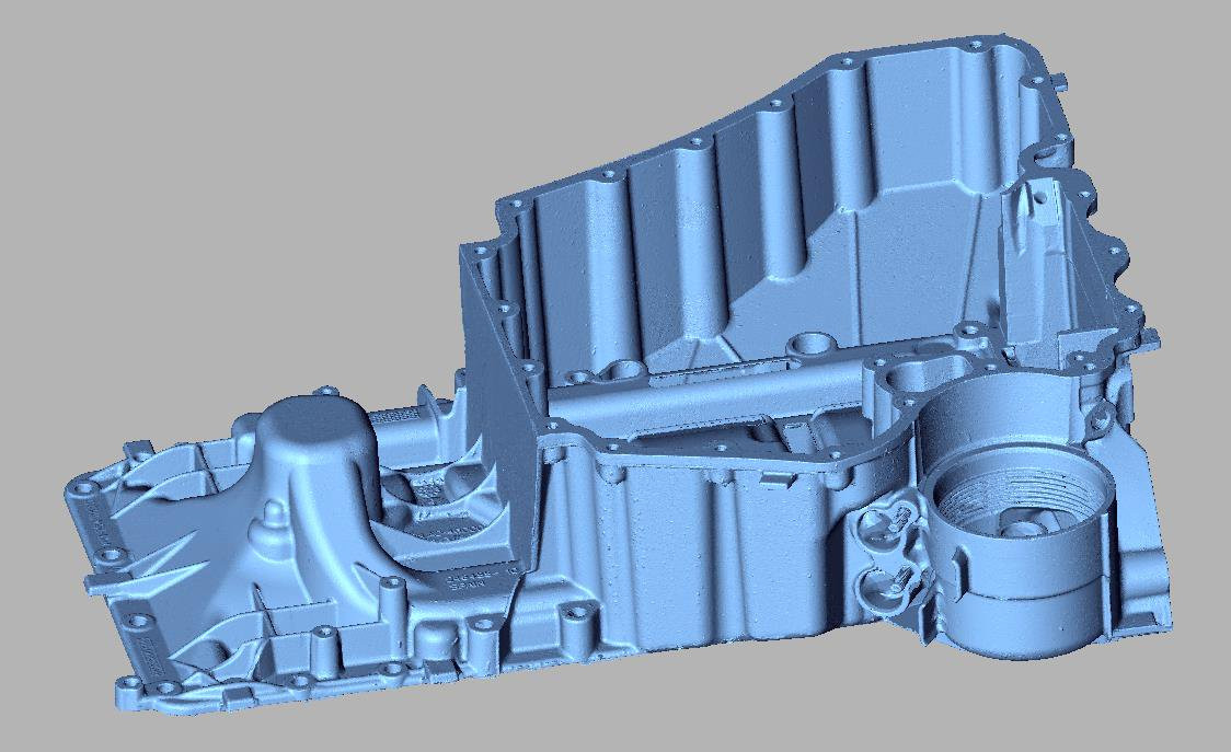 bmw V8 sump 3d scan