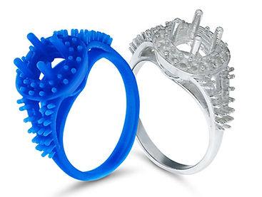 anello stampato in 3D SLA