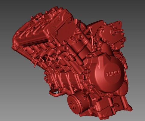 R6 engine 3d scanning