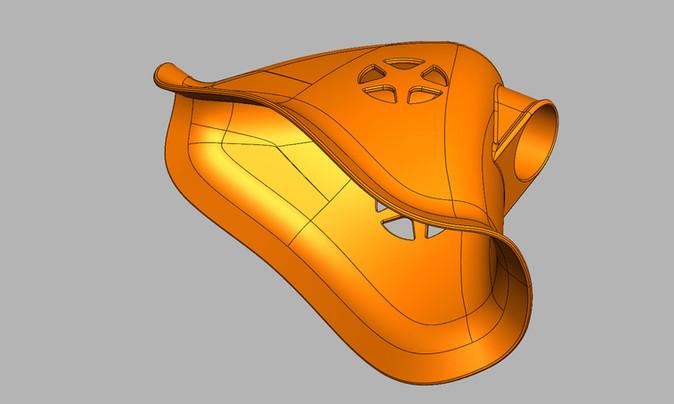 Oxygen mask CAD redesign