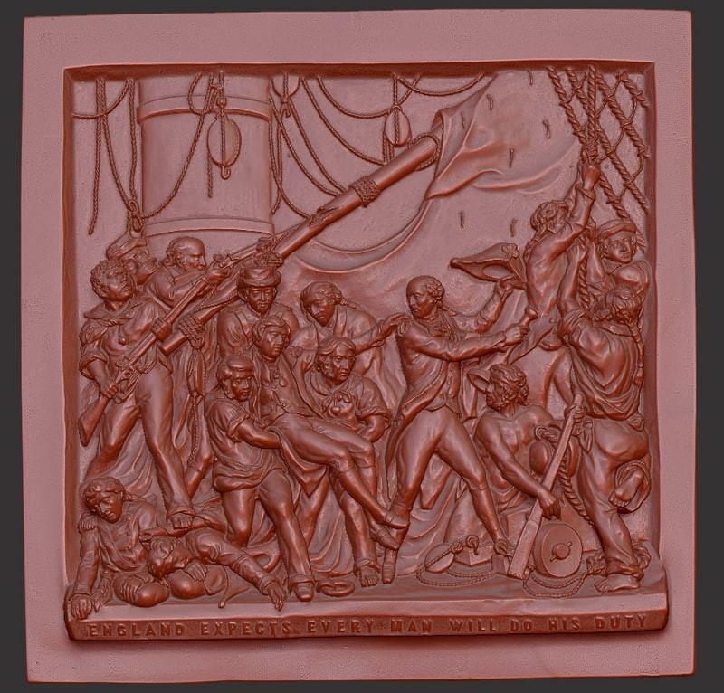 Battle of Trafalgar Bas-relief