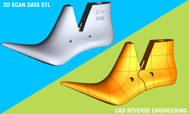 shoe last cad reverse engineering