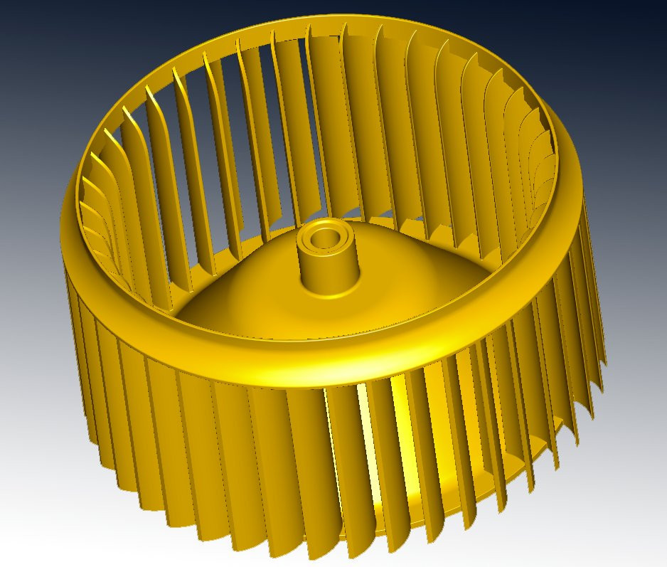 Turbine blade reverse engineering