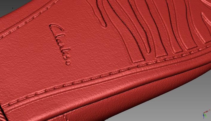 clark shoe 3D scanning close up