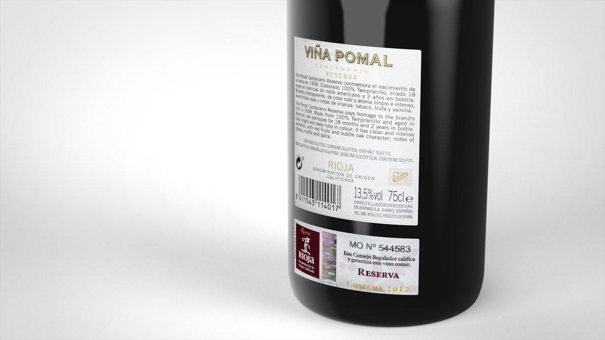 Wine bottle rendering