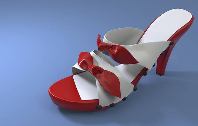 Women sandal rendering