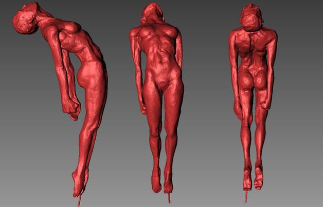 Clay sculpture 3d scan