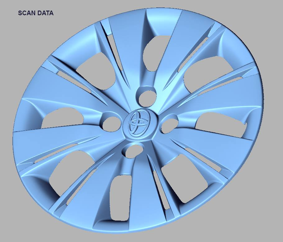 Toyota cover rim 3d scan