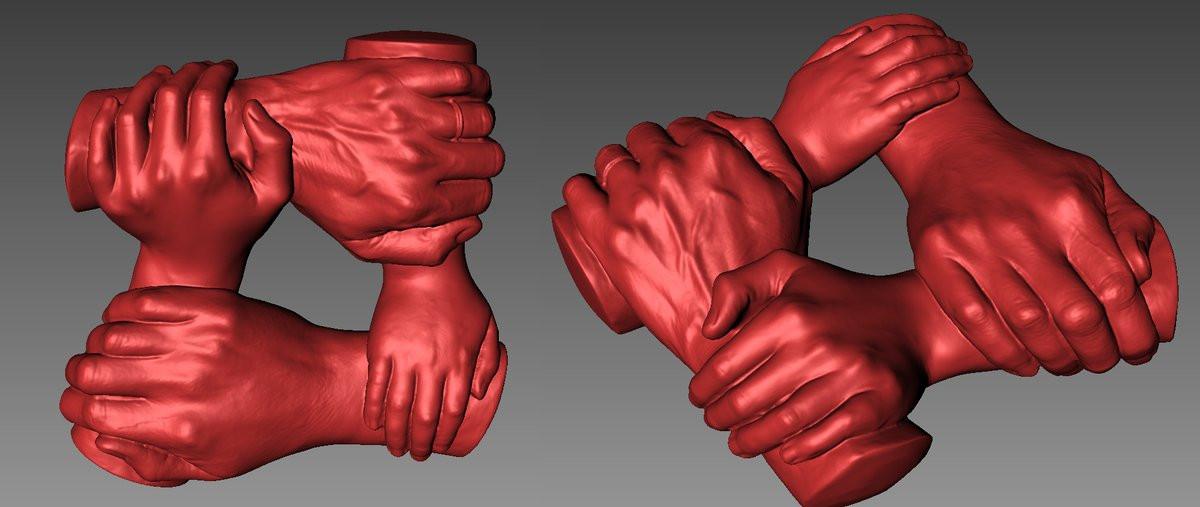 hands 3d scan