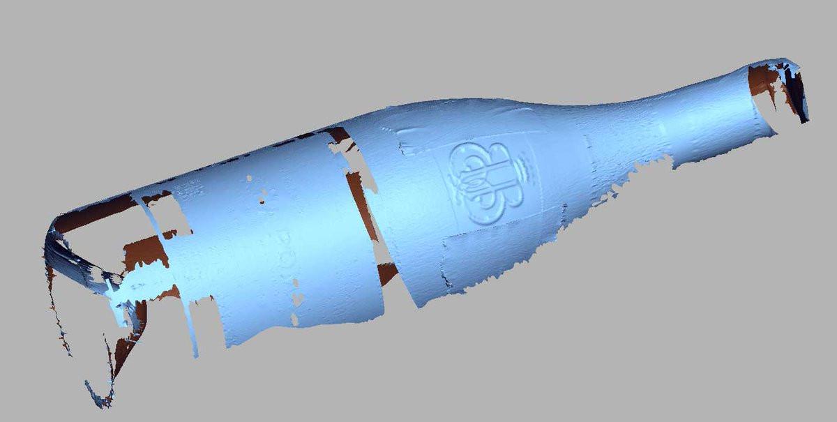 Wine bottle partial 3d scan