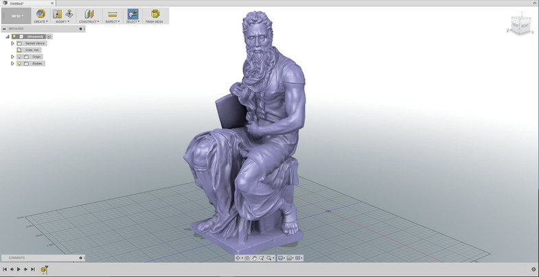 Moses 3d scan