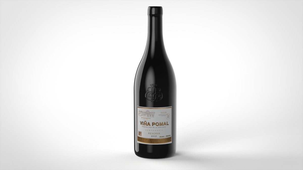 Wine bottle rendering 3