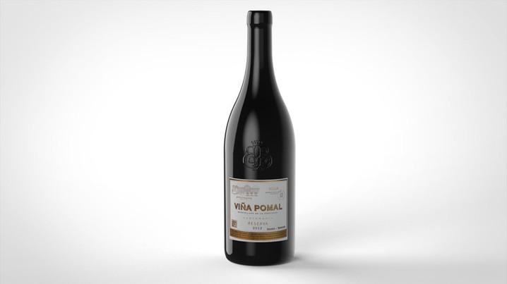 Wine bottle rendering 3