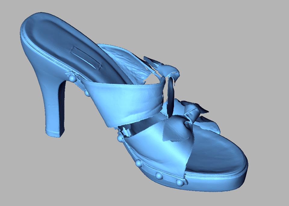 Women sandal 3D scan