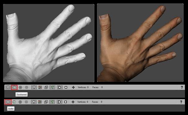 3D scanner color texture