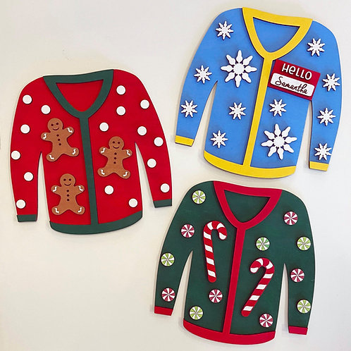 Ugly Sweater DIY Wooden Decoration