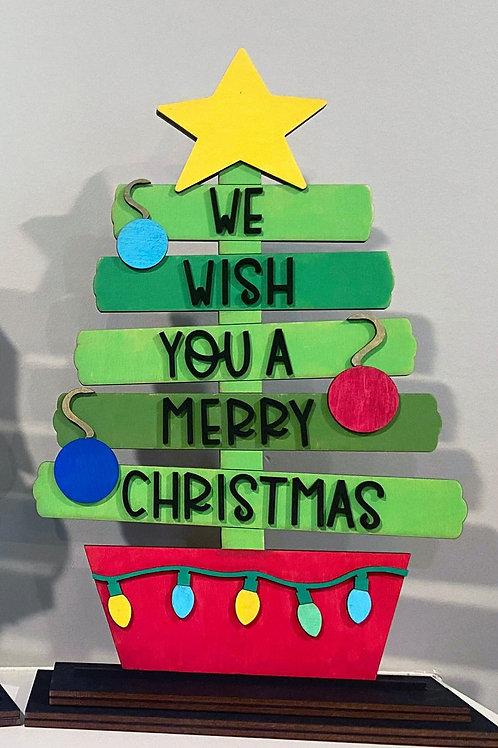 Festive Christmas Tree - DIY Wooden Decoration