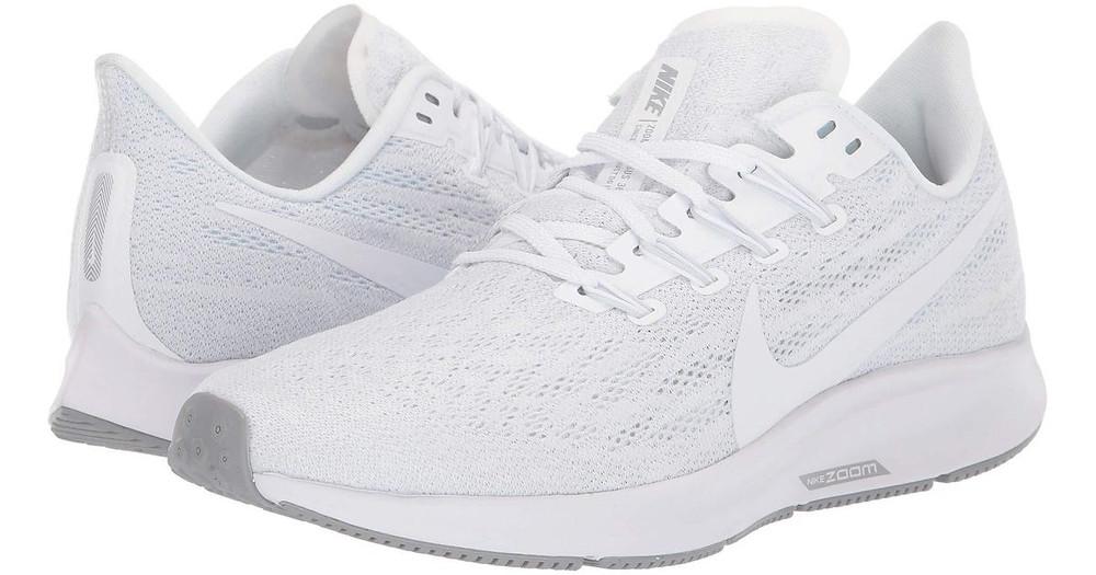 Nike Air Zoom Pegasus 36 White / Half blue KVK - Stærð 36 - 42 / Verð 21.990 kr