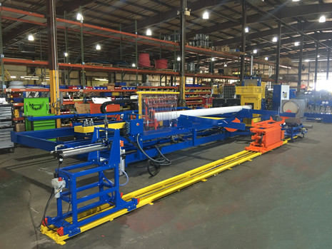 PVC pipe lift and rotator integrated with belling machine