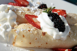 Our Fruit and Cream Crepe
