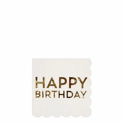 Birthday Gold Napkins