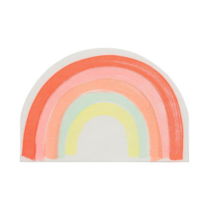 Neon Rainbow Napkins