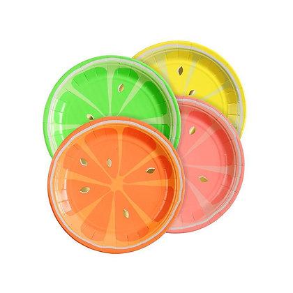 Neon Citrus Plates
