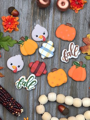 Thanksgiving Mini Cookie Sets (5 cookies)
