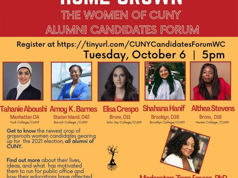 10/6/20 Home Grown: The Women of CUNY Alumni Candidates Forum