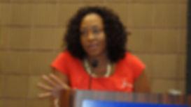 Zinga Fraser, PhD at Podium