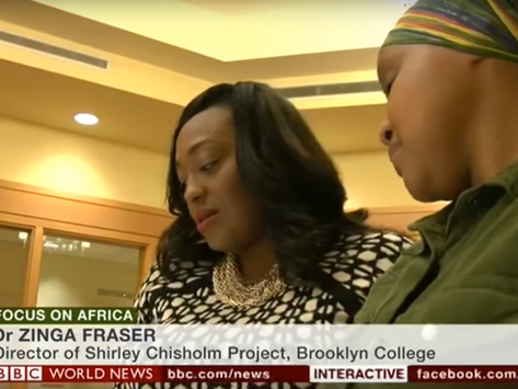 Watch Zinga A. Fraser, PhD on BBC World News Africa