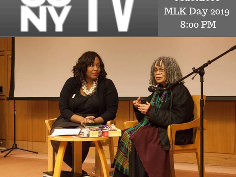 1/21/19 8PM CUNY TV Broadcast of Dr. Sonia Sanchez interview by Dr. Zinga Fraser