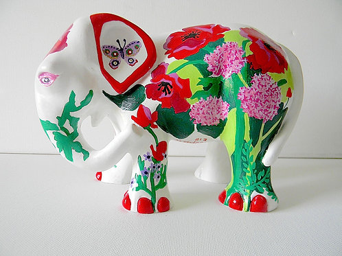 Flowers on white Elephant - PP-R3344