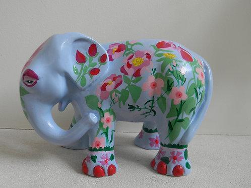 Blue Floral Elephant - PP-R3318