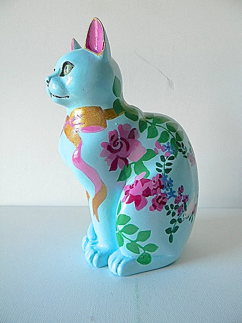 Roses on Blue small cat - PP-R4020