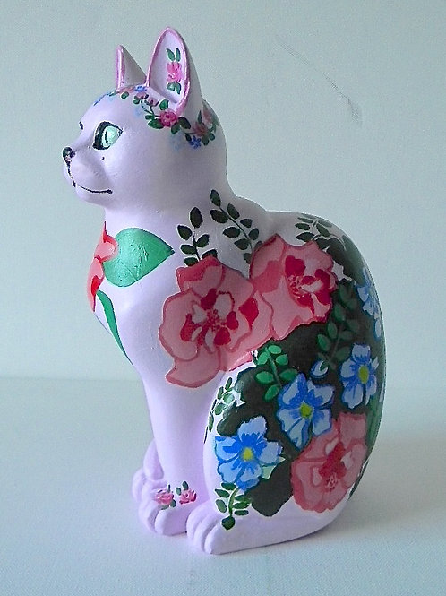 Floral on pink Small Cat - PP-R4022