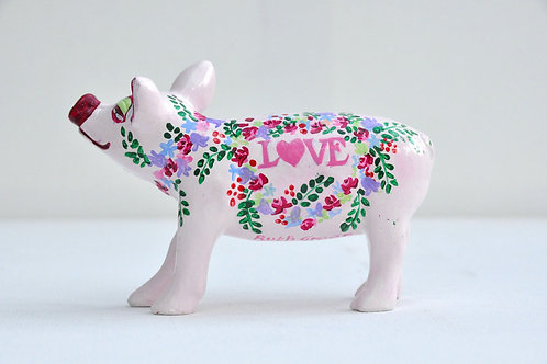 Love on pink Mini Pig - PP-R1382